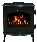Carron Green Enamel 4.7kW DEFRA Smoke Exempt Multifuel Stove